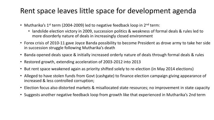 Rent space leaves little space for development agenda