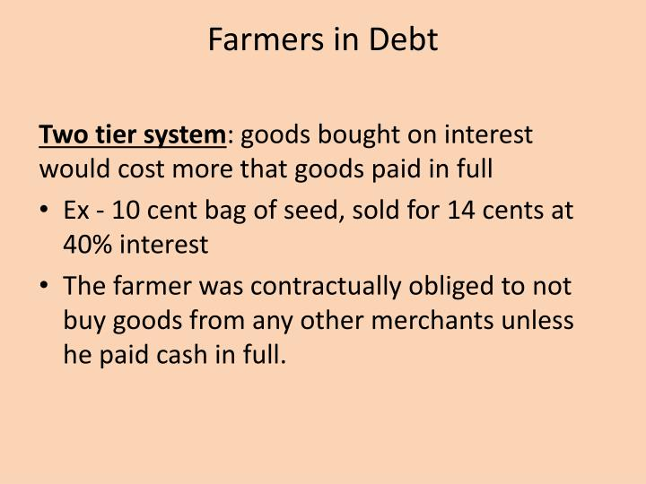 Farmers in Debt