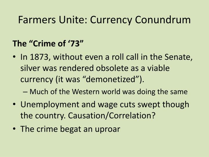 Farmers Unite: Currency Conundrum