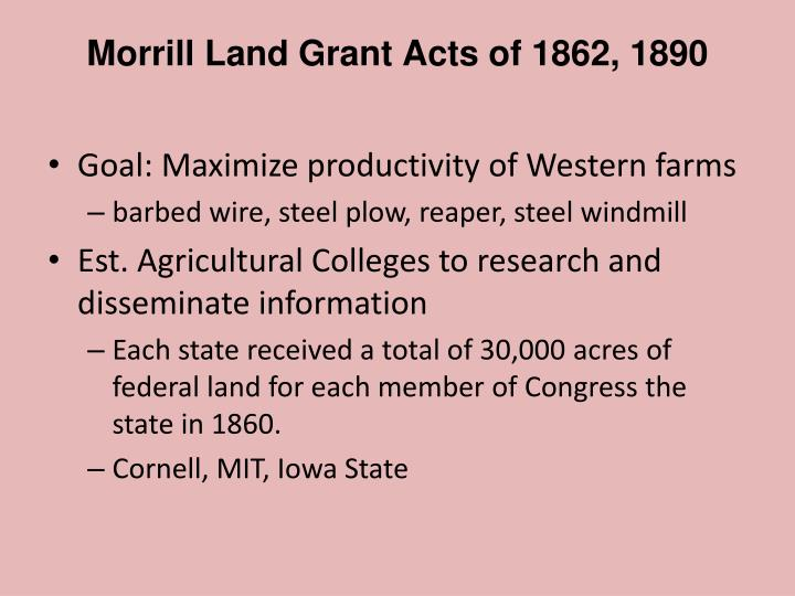 Morrill Land Grant Acts of