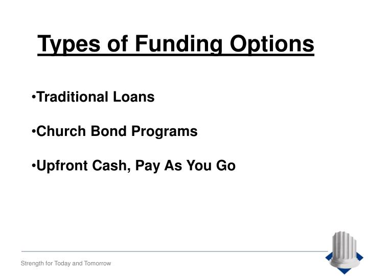 Types of Funding Options