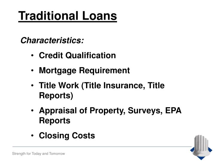Traditional Loans