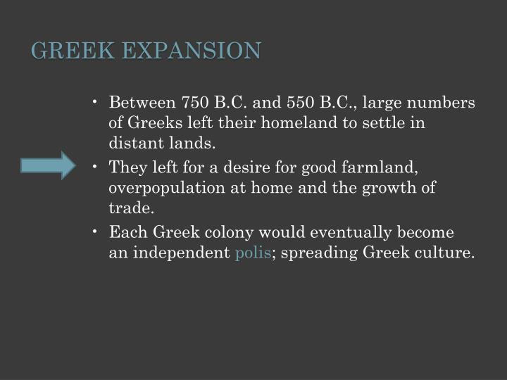 Greek Expansion