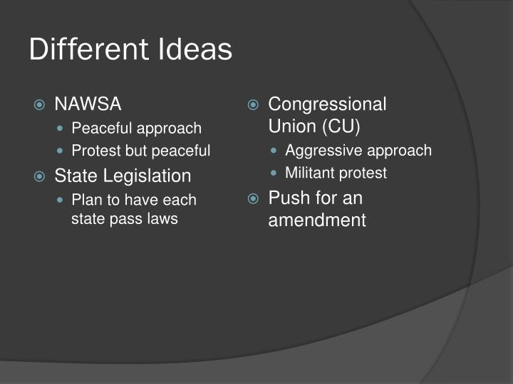 Different Ideas