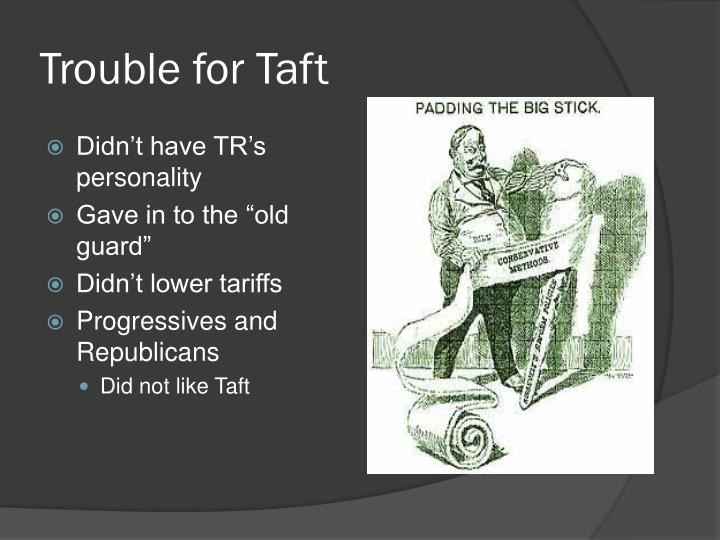 Trouble for Taft