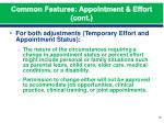 common features appointment effort cont1