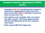 common features appointment effort cont2