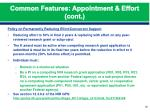 common features appointment effort cont3