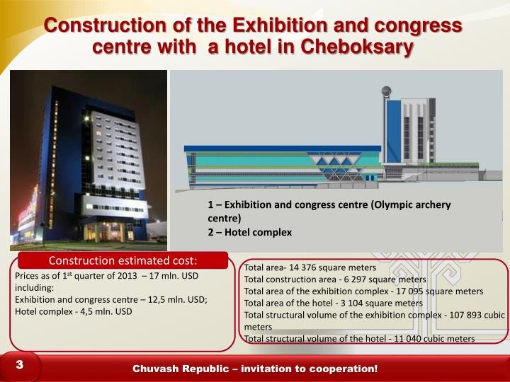 Construction of the exhibition and congress centre with a hotel in cheboksary