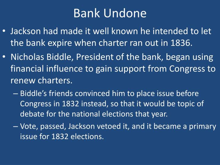 Bank Undone