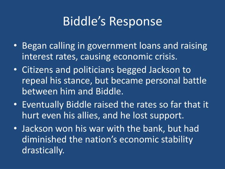 Biddle's Response