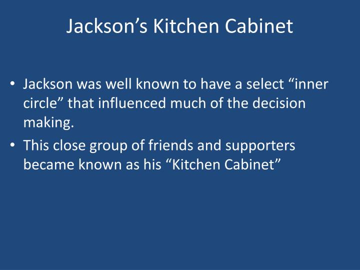 Jackson's Kitchen Cabinet