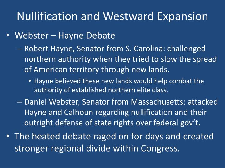 Nullification and Westward Expansion