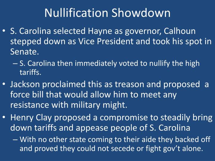 Nullification Showdown