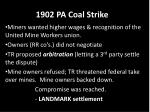 1902 pa coal strike