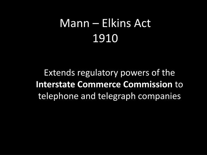 Mann – Elkins Act