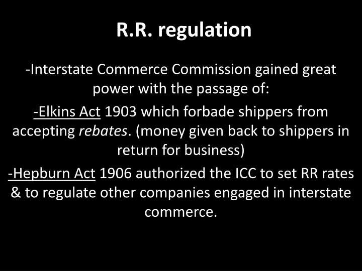 R.R. regulation