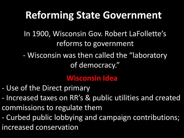 Reforming State