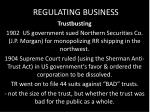 regulating business