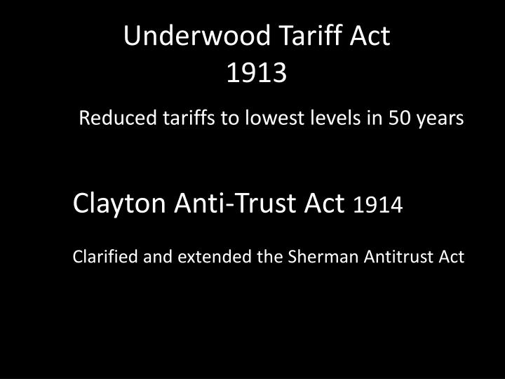 Underwood Tariff Act