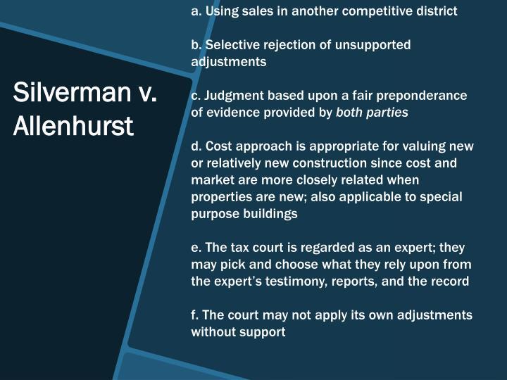 Silverman v. Allenhurst