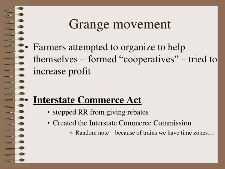 Grange movement