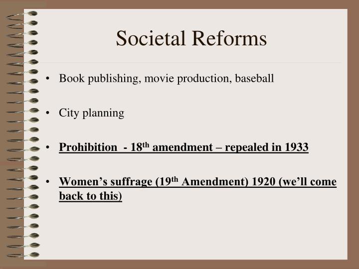 Societal Reforms