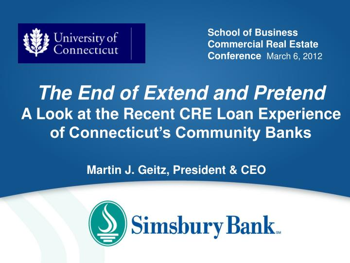 school of business commercial real estate conference march 6 2012