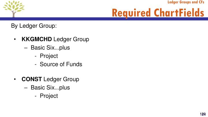 Ledger Groups and CFs