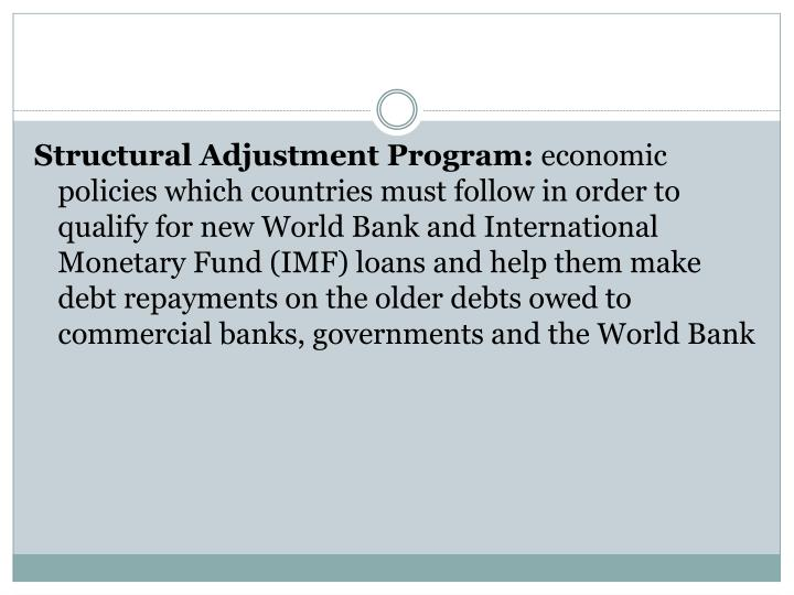 Structural Adjustment Program: