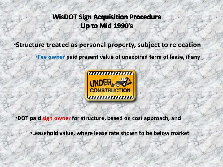 WisDOT Sign Acquisition Procedure