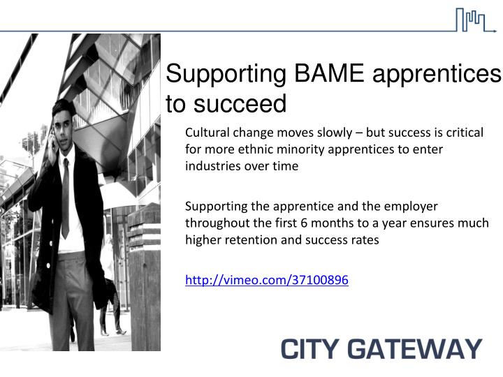 Supporting BAME apprentices to succeed
