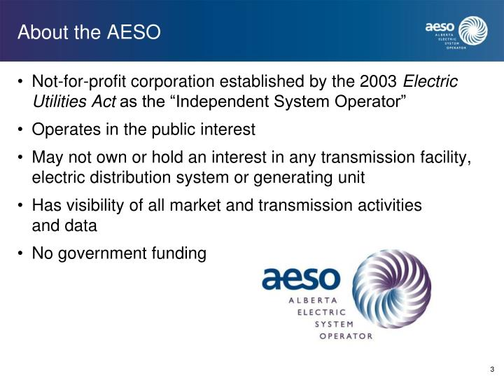 About the AESO