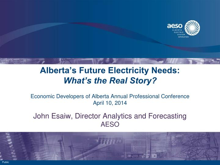 Alberta's Future Electricity Needs: