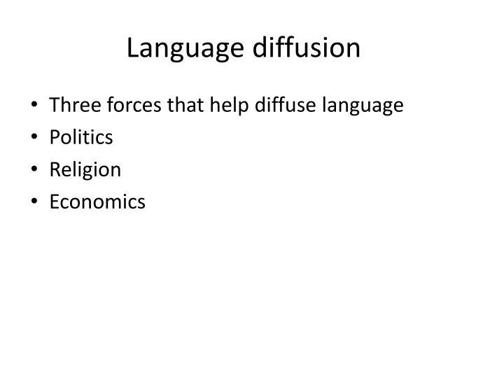 Language diffusion