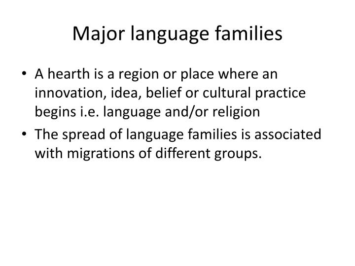 Major language families