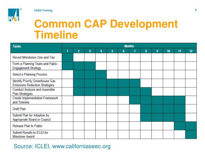 Common CAP Development Timeline