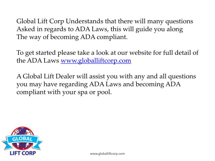 Global Lift Corp Understands that there will many questions
