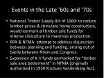 events in the late 60s and 70s