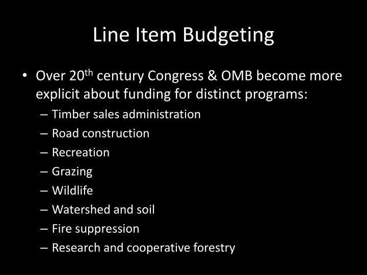 Line Item Budgeting