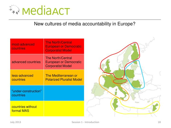 New cultures of media accountability in Europe?