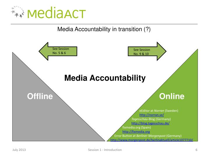 Media Accountability in