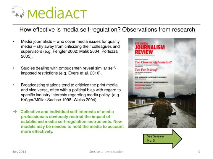 How effective is media self-regulation?