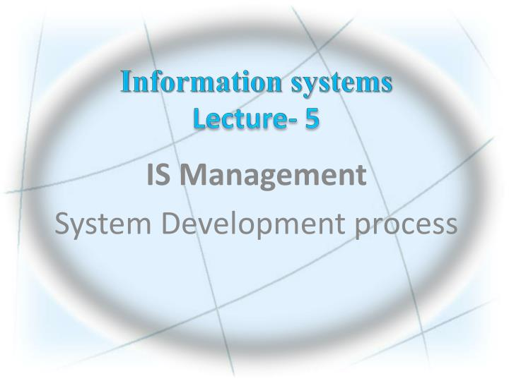 Information systems lecture 5