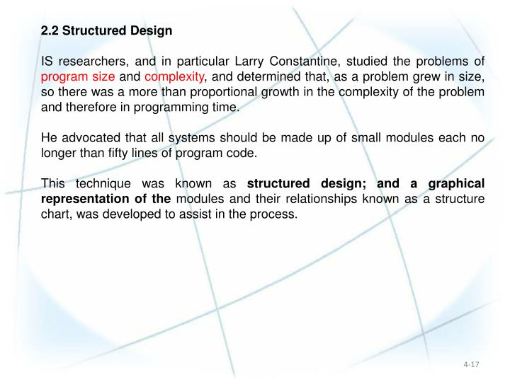 2.2 Structured Design