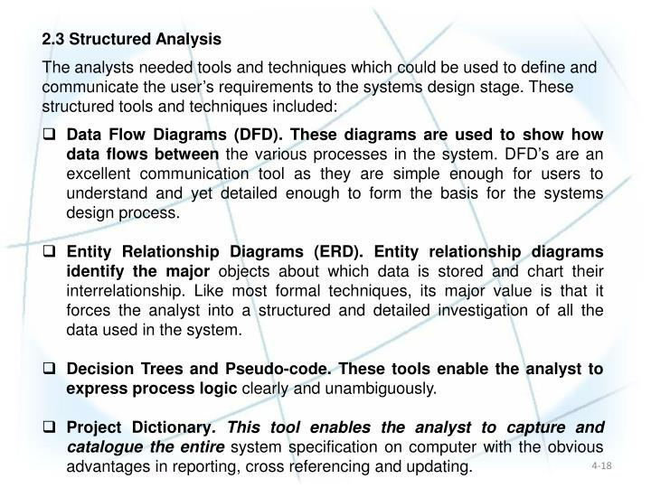 2.3 Structured Analysis