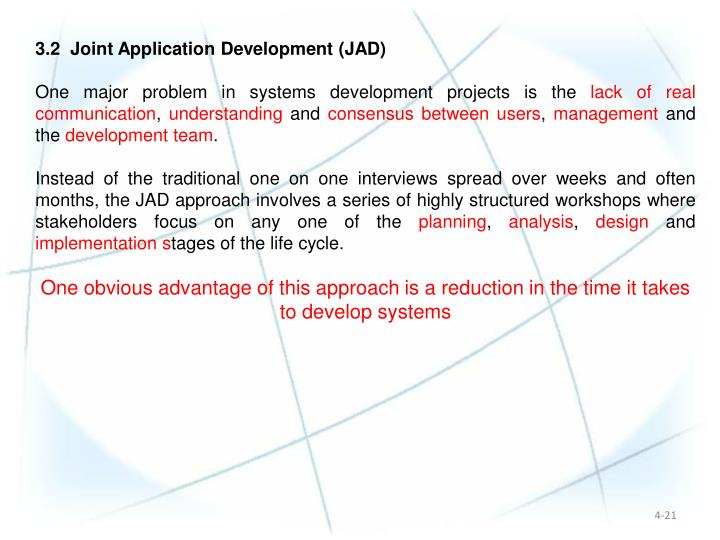 3.2  Joint Application Development (JAD