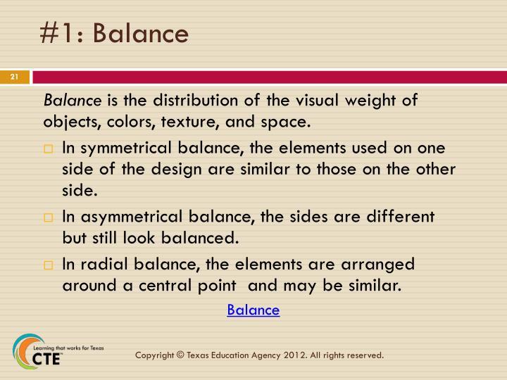 #1: Balance