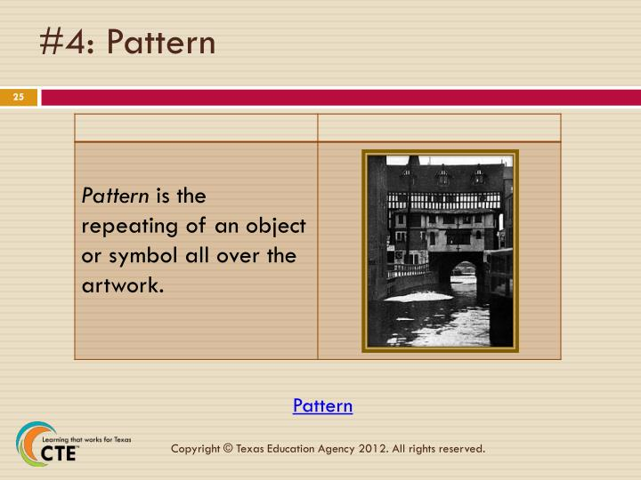 #4: Pattern