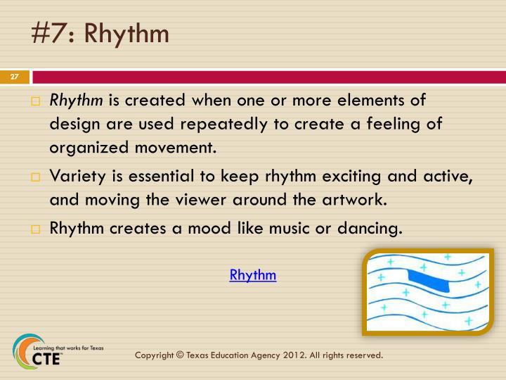 #7: Rhythm